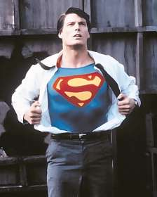 Christopher Reeve in the role of Superman