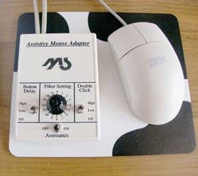 IBM introduces an assistive mouse.